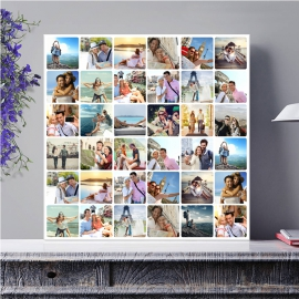 Egyedi - Fénykép kollázs poszter 6x6 (2cm-es vakráma kerettel)