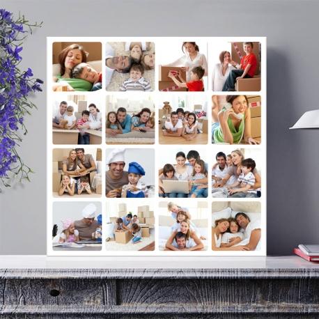 Egyedi - Fénykép kollázs poszter 4x4 (2cm-es vakráma kerettel)