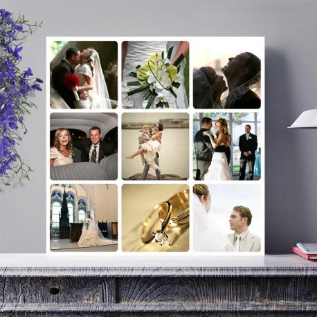 Egyedi - Fénykép kollázs poszter 3x3 (2cm-es vakráma kerettel)