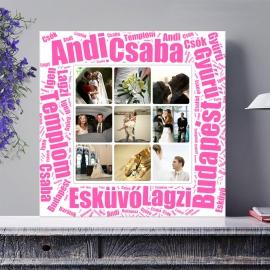 Egyedi - Fénykép kollázs poszter 3x3 szöveggel