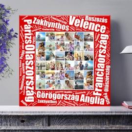 Egyedi - Fénykép kollázs poszter 6x6 szöveggel