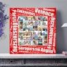 Egyedi - Fénykép kollázs poszter 6x6 szöveggel (2cm-es vakráma kerettel)
