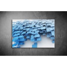 Kék Négyztekek Poszter 004