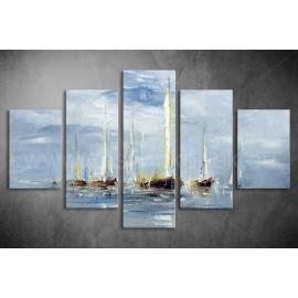 Többrészes Hajók poszter 008 - (választható formák)