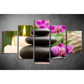 Többrészes Orchidea, Lávakövek poszter 010 - (választható formák)