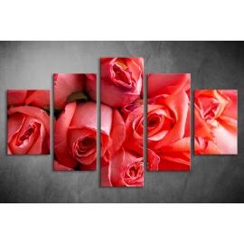 Többrészes Piros Rózsák poszter 021 - (választható formák)