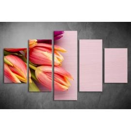 Többrészes Tulipános poszter 027 - (választható formák)