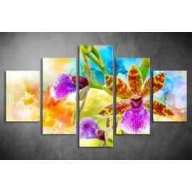 Többrészes Orchidea poszter 037 - (választható formák)