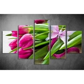 Többrészes Tulipános poszter 045 - (választható formák)