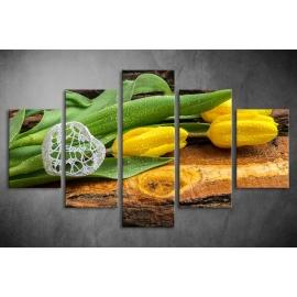 Többrészes Sárga Tulipános poszter 046 - (választható formák)