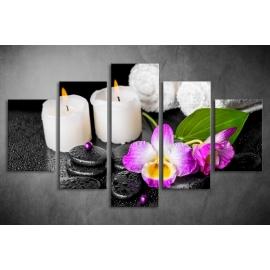 Többrészes Gyertyák, Orchidea poszter 048 - (választható formák)