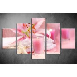 Többrészes Rózsaszín poszter 038 - (választható formák)