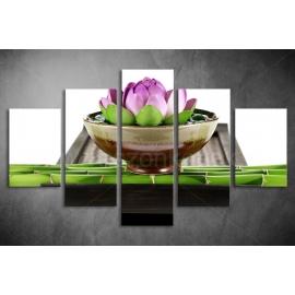 Többrészes Lótuszvirág poszter 040 - (választható formák)