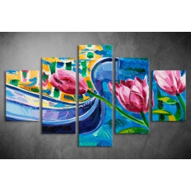 Többrészes Tulipánok poszter 033 - (választható formák)