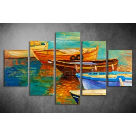 Többrészes Csónakok poszter 036 - (választható formák)