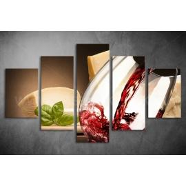 Többrészes étel-ital poszter (választható formák)