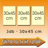 """Poszter - """"Triple"""" - 3db-os - 30x45cm"""