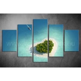 Többrészes Óceán szíve poszter 040 - (választható formák)