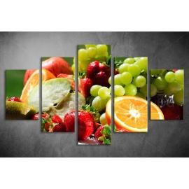 Többrészes Gyümölcsök poszter 010 - (választható formák)