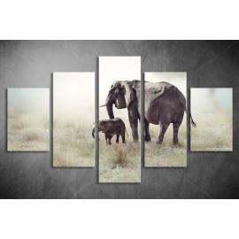 Többrészes Elefántok poszter 040 - (választható formák)