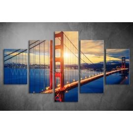 Többrészes Golden Gate poszter 003 - (választható formák)
