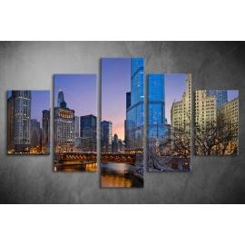 Többrészes Városkép poszter 015 - (választható formák)