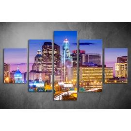 Többrészes Városi fények poszter 004 - (választható formák)