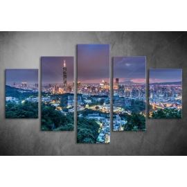 Többrészes Városkép poszter 002 - (választható formák)