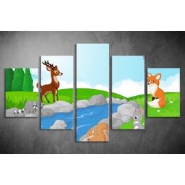 Többrészes Erdei Állatok poszter 003 - (választható formák)