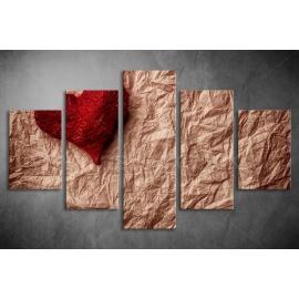 Többrészes Piros Szív poszter 002 - (választható formák)