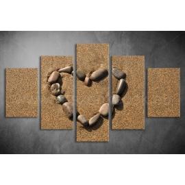 Többrészes Kavics Szív poszter 004 - (választható formák)