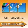 """Poszter - """"Triple"""" - 3db-os - 40x50cm"""