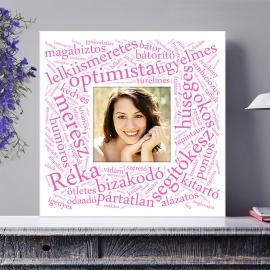 Egyedi - Szóképes és fényképes poszter - Választható színben